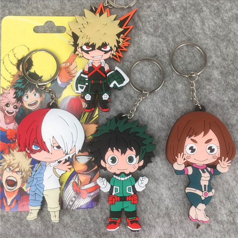 Anime Figures Keyring Ornament Keychain Acrylic-Toys Academia Japan Cartoon-Characters