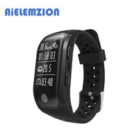 AiELEMZION S908 Bluetooth Smart Band Bracelet with GPS, Heart Rate, Sleep Monitor, Pedometer, Fitness Tracker for Android IOS