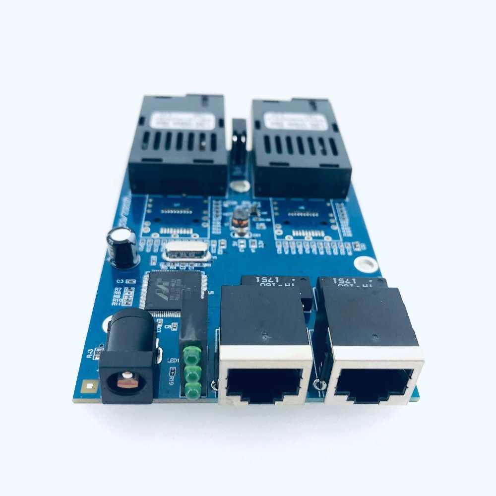 10/100/1000 M switch Ethernet Gigabit Ethernet In Fibra Ottica Media Converter Singola Modalità 2 RJ45 UTP e 2 Porta in fibra SC Bordo del PWB