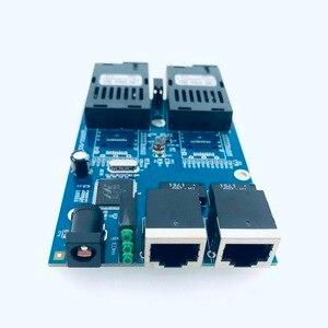 Image 2 - 10/100/1000M 기가비트 이더넷 스위치 이더넷 광 미디어 컨버터 단일 모드 2 RJ45 UTP 및 2 SC 광섬유 포트 보드 PCB