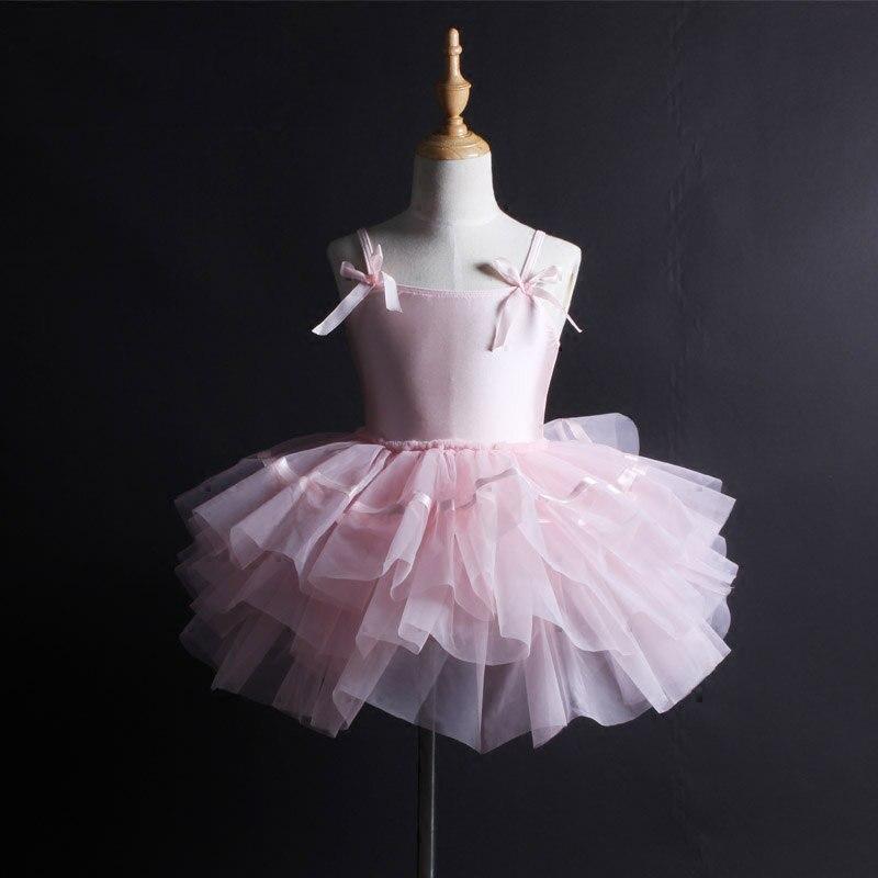 Ballet Tutu enfant filles enfants adulte rose robe de Ballet femmes Costumes de danse contemporaine Ballet Tutu costume ballerine robe DN1046