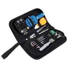 13 en 1 Kit Conjunto de Herramientas de Reparación de Relojes de Alta calidad reloj Ajustable Detrás Encajona Primavera Bar Remover herramientas Set
