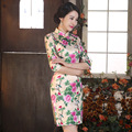 New Autumn Three Quarter Sleeve Cheongsam Sexy Mom Qipao Dresses Women Traditional Chinese Clothing ZA511