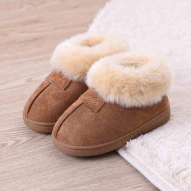 2016 New Warm Winter Children Slippers Boys Girls Slippers Fashion Comfortable Slip On Children Cotton Shoes Kids CHW010