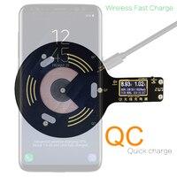 ATORCH Qi Drahtlose Ladegerät handy tester für iPhone X 8 Plus Samsung Galaxy S8 S9 S7 usb schnelle ladegerät lcd tester display