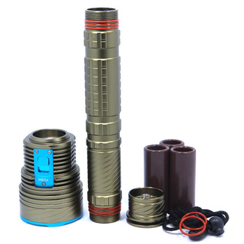 20000LM Underwater Led Flashlight 9*XM-L2 Diving Lamp Torch Defensive Waterproof Light Lantern With 3*26650 Battery & Charger