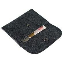 BLEVOLO фетровый маленький Подарочный Кошелек для монет, модный простой кошелек для монет, короткий квадратный кошелек на застежке, унисекс, сумка для карт, кошельки, 4 цвета