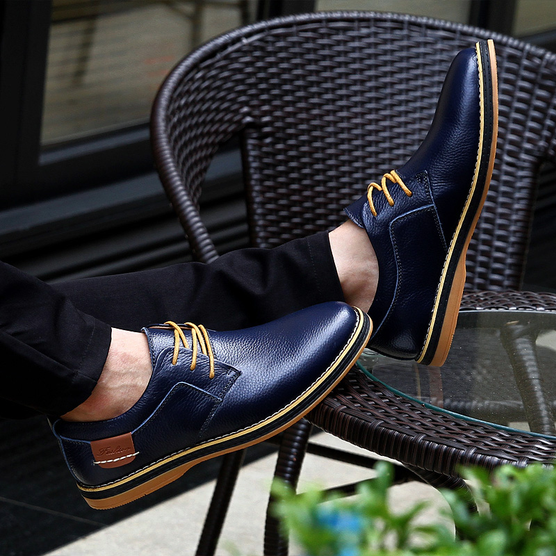HTB1oXn7c8GE3KVjSZFhq6AkaFXaK 2019 New Men Oxford Genuine Leather Dress Shoes Brogue Lace Up Flats Male Casual Shoes Footwear Loafers Men Big Size 39-48