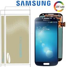 Original 5.0 Super AMOLED LCD สำหรับ SAMSUNG Galaxy S4 i9505 i9500 i9505 i9506 i9515 จอแสดงผล TOUCH Digitizer