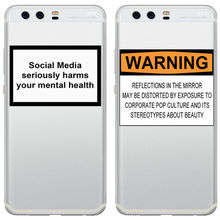 цена на Social Media seriously harms your mental health Soft silicone TPU phone back cover for Huawei Mate20 P8Lite P8 P9 P10 P20 Pro