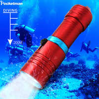 XM-L2 Diving flashlight 15000LM Scuba flashlight LED 200M Underwater Flashlights led Powerful diving lamp 18650 or 26650
