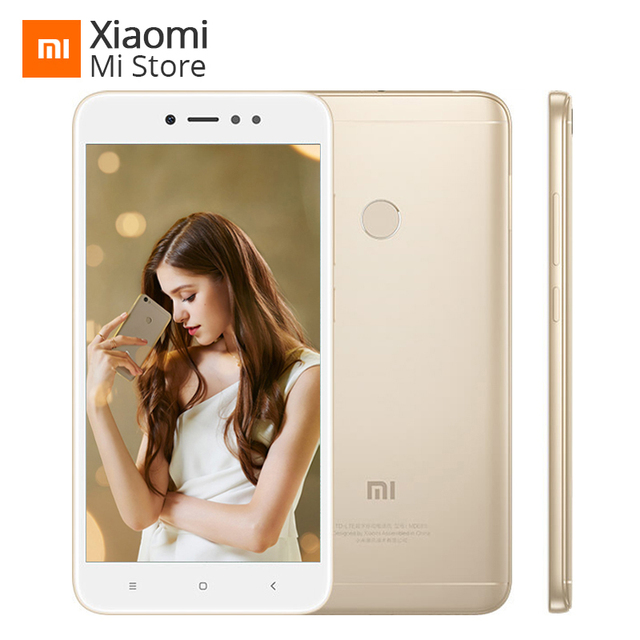 "Original Xiaomi Redmi Note 5A 5 A 64GB 4GB RAM Mobile Phone Snapdragon 435 Octa Core 16MP Front Camera 5.5"" Fingerprint MIUI 9"