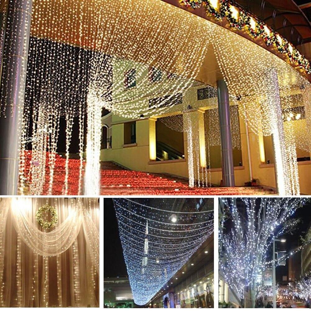 3 m X 3 m luz 300 LED cortina romántica decoraciones de Navidad para el hogar Navidad decoración de Año Nuevo guirnalda Natale Natal.