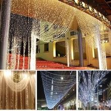 3 м X 3 м 300 светодио дный свет Светодиодная штора Романтические Рождественские украшения для дома Navidad Новый год украшения гирлянды Natale Натал.