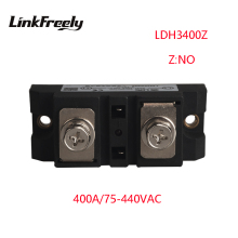 цена на LDH3400Z  High Power 1 Phase Solid State Relay 220V 400A Output 75-480VAC Input 5V 12V 24V 32V DC SSR Voltage Relay Board Switch