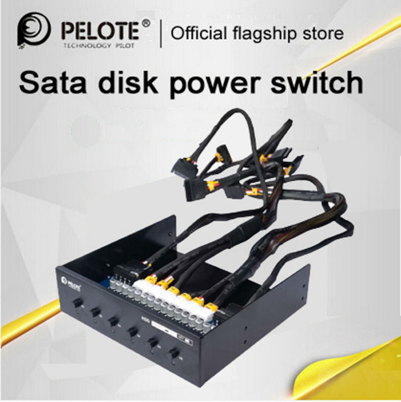 Prix pour PELOTE HD-PW6101 Disque Dur sélecteur sata drive switcher HDD Commande de Commutation de Puissance Pour PC De Bureau ordinateur CD-ROM Slot Espace