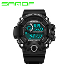 Sanda Fashion Men Sports Watches Silicone LED Men Digital Watches For Men Sports Wristwatches Sport Watch Relogio Masculino 2017