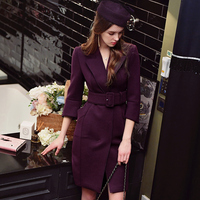 Original New 2017 Brand Spring Autumn Fashion Elegant Casual Trench Coat For Women