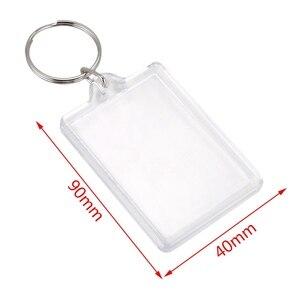 Image 2 - 100 pièces porte clés Transparent avec espace pour les photos ou les images de 90*40mm porte clés de photo