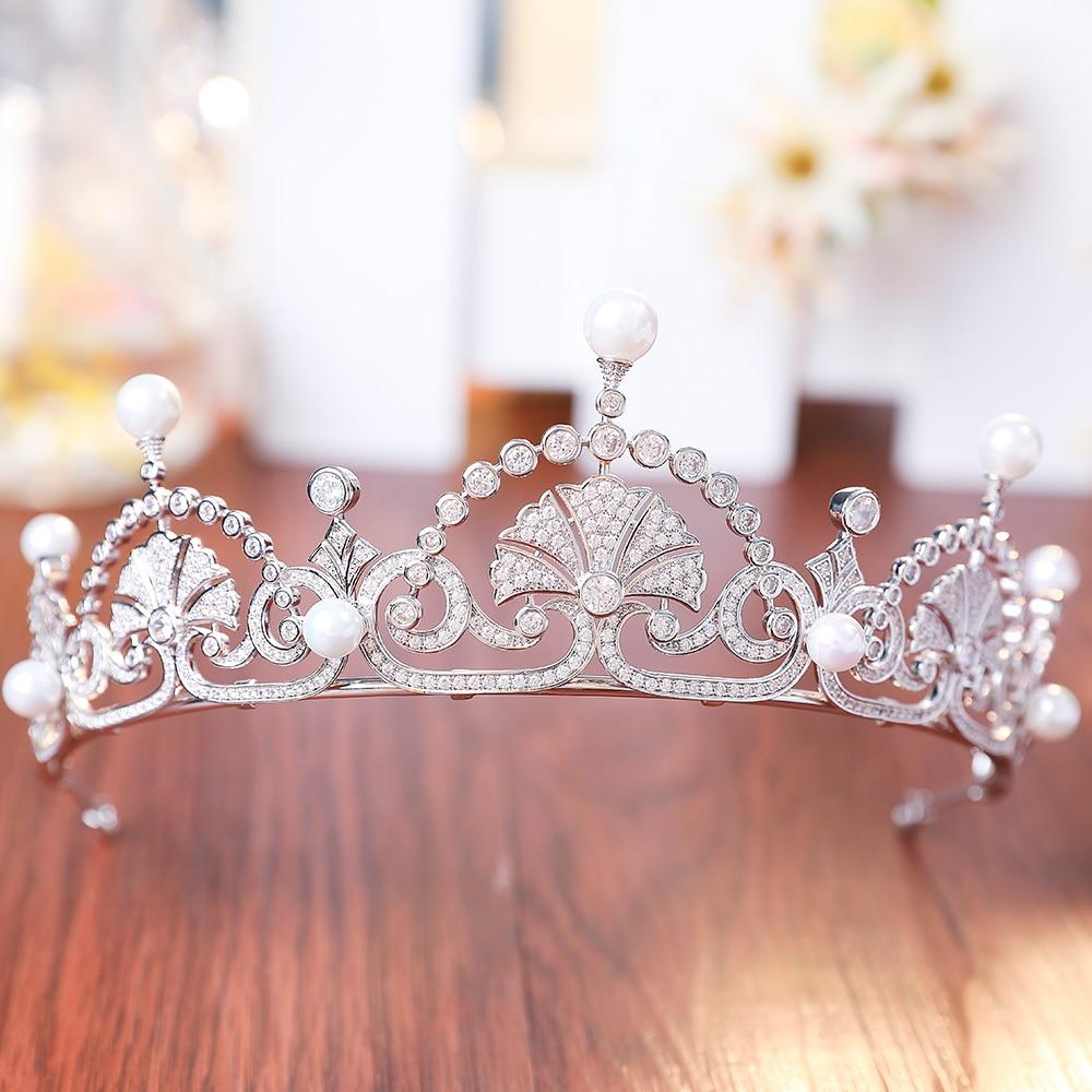 Luxury Royal Crown AAA Clear Cubic Zirconia CZ Bridal