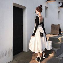 Women Summer Princess Ruffles Strap Suspender Braces A-line Skirt Jupe Gothic High Waist  Boho Beach Party Pleated