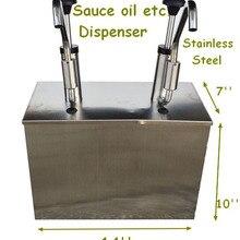 Коммерческий 2-х секционный дозировочная хороший инструмент для приготовления пищи высокое качество
