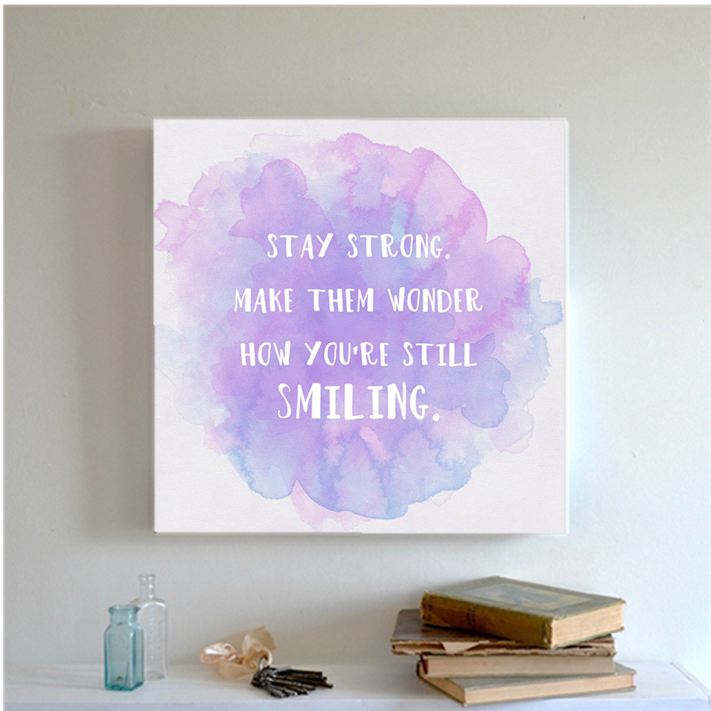 Color printing quotes - Watercolor Minimalist Motivational Colorful Quotes Large Art Print Poster Wall Picture Canvas Painting Bedroom Decor Pp071