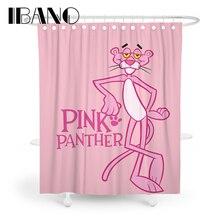 IBANO Розовая пантера занавеска для душа Водонепроницаемый полиэстер ткань для ванной занавеска для ванной комнаты с 12 крючками Лидер продаж