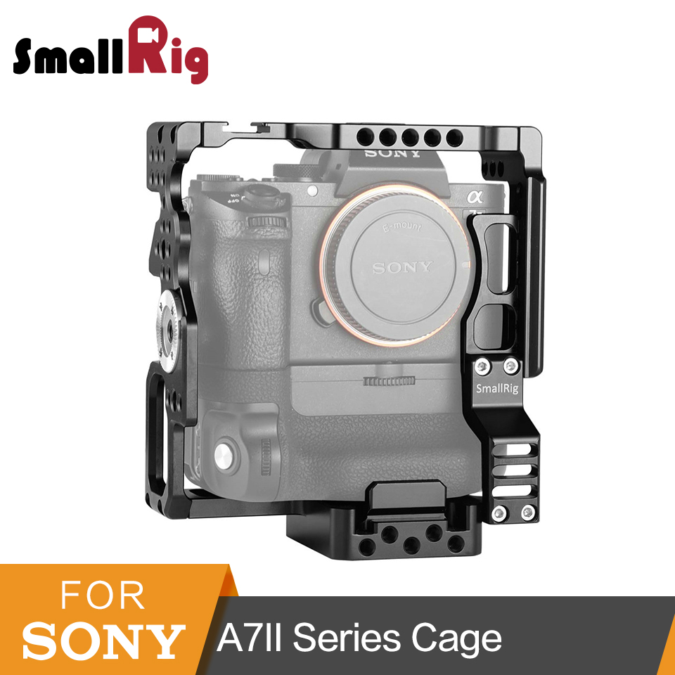 SmallRig Camera Cage for Sony A7II/ A7SII/A7RII With Arri Rosette 2 Pcs Quick Release Plate -2031