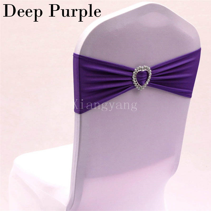 Purple Chair Sashes For Weddings Bouncy Chairs Babies Over 6 Months Black And Gold Lycra Red Pink White Spandex Wedding Event Party Decoration 30