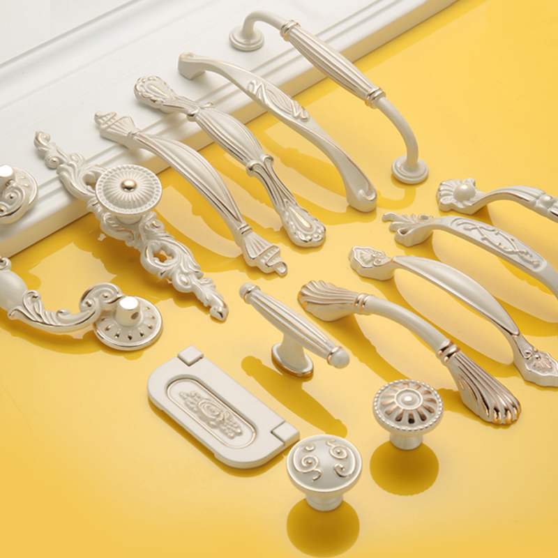 Handles for furniture uchwyty do mebli White Kitchen Cupboard Wardrobe Handles Furniture Door Handles and Knobs