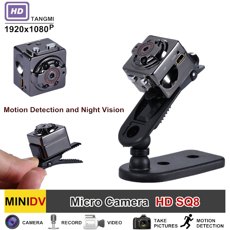 SQ8 Full HD 1080P Mini Camera With Motion Sensor Night Vision Micro Camcorder Sport Outdoor DV Voice Video Recorder Action Cam newest ir cut camera 1080p mini full hd camera micro infrared night vision cam motion detection dv spied cameras