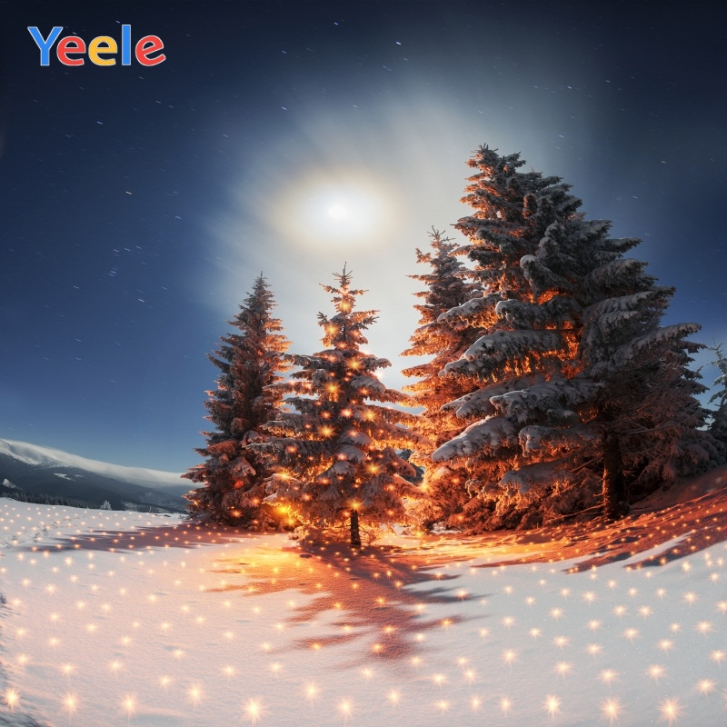 Yeele Photocall Party Glitters Pine Winter Carnival Photography Backdrops Personalized Photographic Backgrounds For Photo Studio in Background from Consumer Electronics