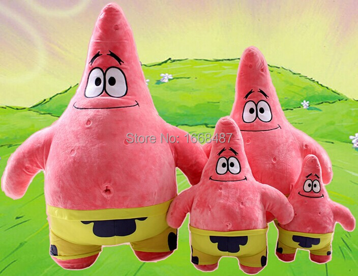 30cm cartoon animal doll toy stuffed toy spongebob plush and patrick star plush best birthday/valentine day gift