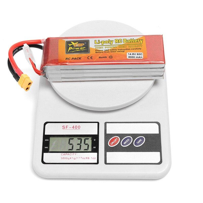 ZOP Power 14.8V 5000mAh 4S 60C Lipo Battery XT60 Plug