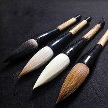 Китайская Ручка-кисть для каллиграфии, Волчья козья шерсть, ворс в форме хоппера, шерстяная ласка, медведь, весенние пары, живопись, ведро, ручка