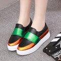 Женщины повседневная обувь 2016 горячие моды туфли на платформе квартир женщин Обувь Лианы
