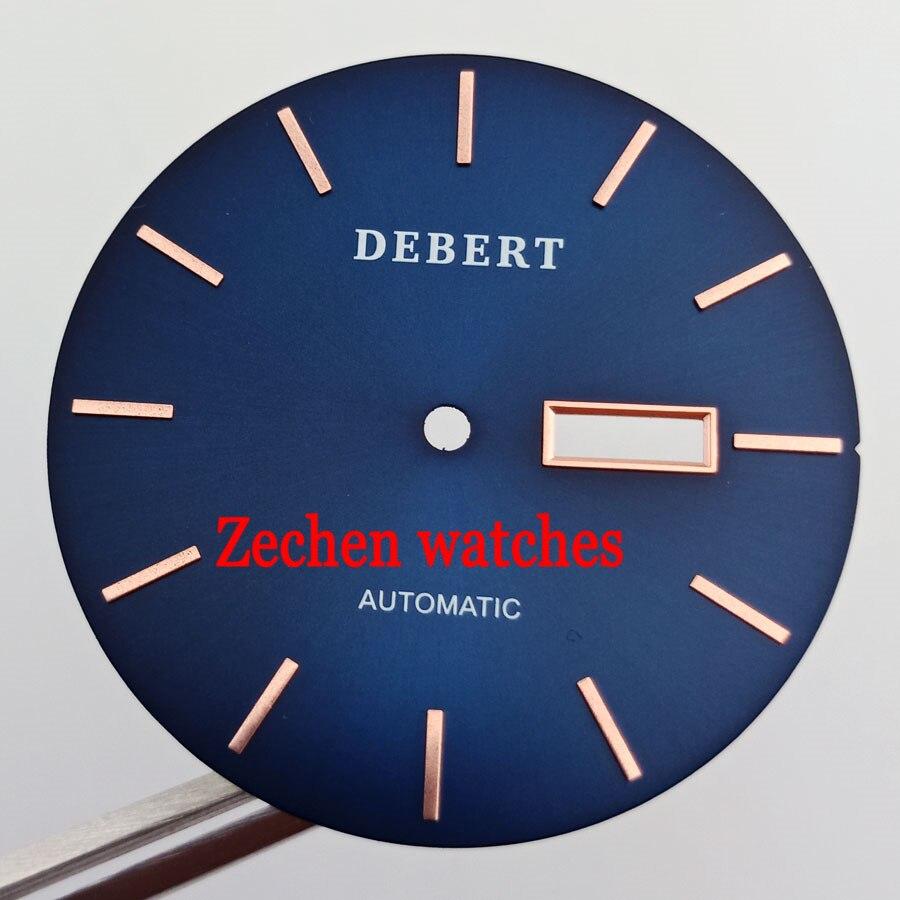 36.2mm Debert Bleu Montre-Bracelet Cadran Fit ETA2836 ETA 2836 Miyota 8205/8215/821A