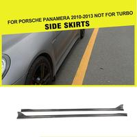 Car Styling Carbon Auto Racing Side Skirts Extension Lip Apron for Porsche Panamera 2010 2011 2012 2013