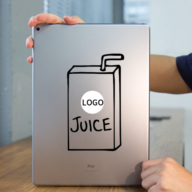 Juice Box Funny Vinyl Laptop Sticker for Apple iPad Decal Air / 1 /2 / 3 / 4 / Mini Surf ...
