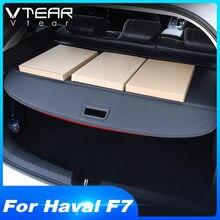 Vtear-cubierta de maletero para Haval F7, cortina de refugio, rejilla trasera, decoración interior de coche, accesorios para automóviles 2018 2019