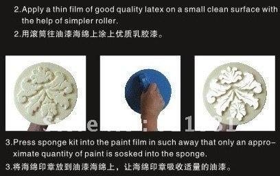 įvairių formų kempinės antspaudas sienų dažymui | 9 '' 230mm - Įrankių komplektai - Nuotrauka 3