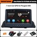 Обновлен Оригинальный Автомобиль мультимедийный Плеер Автомобиля Gps-навигация Костюм для Peugeot 408 Поддержка Wi-Fi Смартфон Зеркало-link Bluetooth