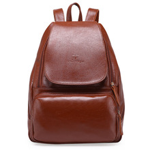 High Quality 2017 Casual Genuine Leather Women Backpack Preppy Style School Bag Ladies Women Travel Bag