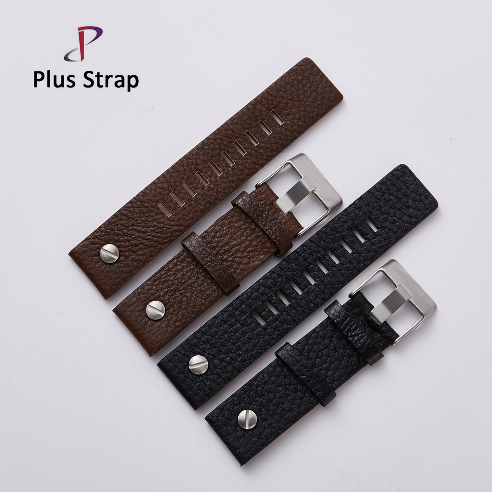 Fashion Leather Watchband with Rivet Watch Strap Wristband Belt Bracelet for Diesel Watch DZ7313 DZ7322 DZ7257 Replacement diesel dz7257