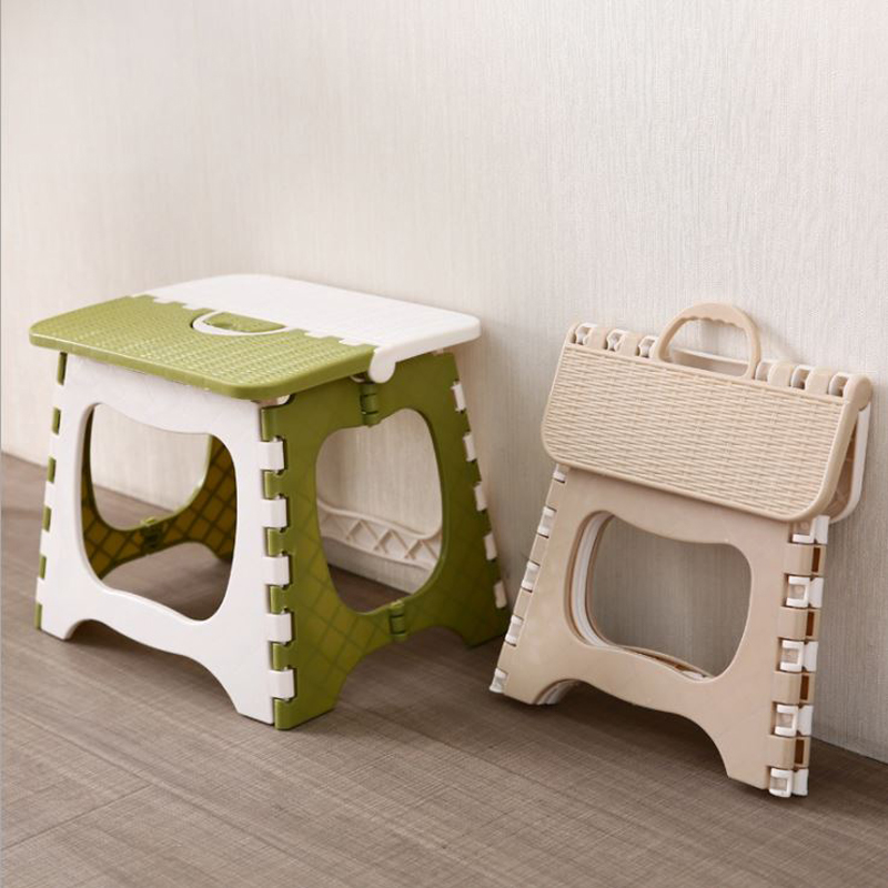 Folding Stool Folding Seat Folding Step Plastic Folding  Thicken Step Portable Child Stools Fashion Thick Plastic Small Stool