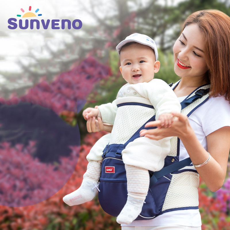 все цены на Sunveno baby carrier Summer ventilation kangaroo Backpacks Infant Toddler sling Front Facing Carrier Sling Kangaroo Hipseat онлайн