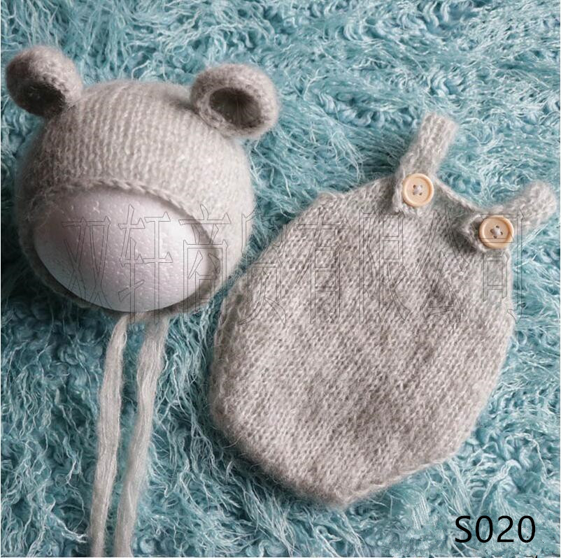 Handgemachte mohair teddy bär hut + shorts Neugeborenen fotografie requisiten