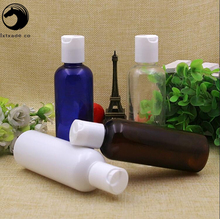 Free Shipping 100 ml Blue Brown Clear White Empty Plastic Packaging Bottles New Style Refillable Empty Containers