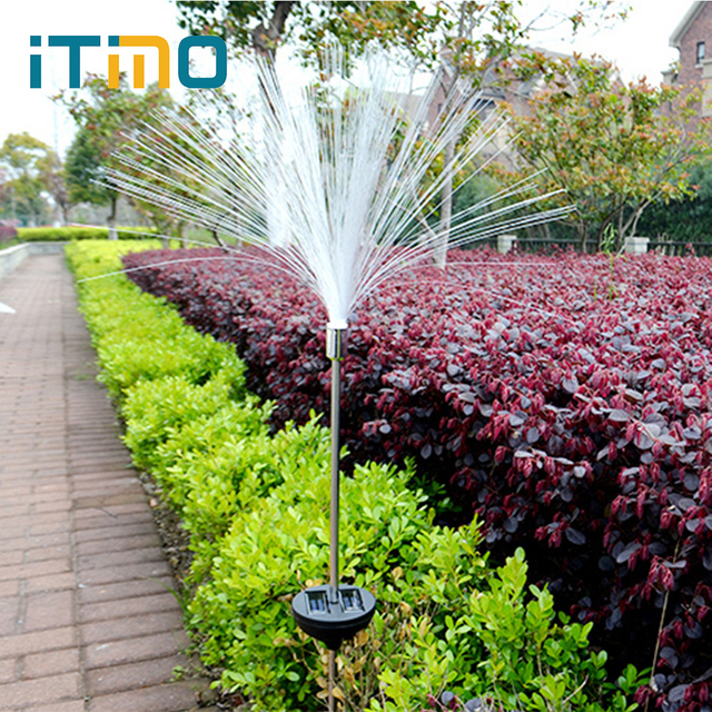 Itimo solar led fibre lamp yard path fence garden lights colour itimo solar led fibre lamp yard path fence garden lights colour changing outdoor lighting light sensor aloadofball Choice Image